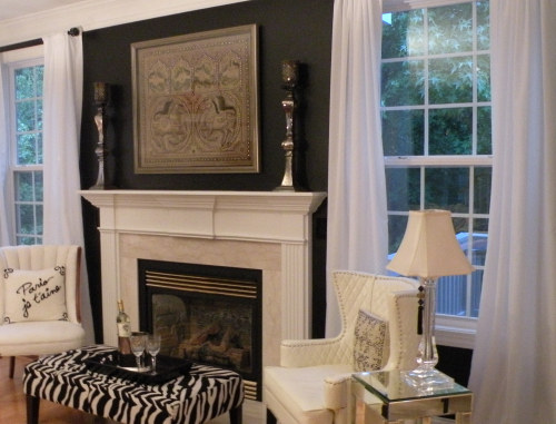 Lisa Stewart Design Paint Black Wall