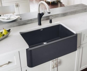 Lisa Stewart Design Raleigh Interior Sink Ikon Blanco